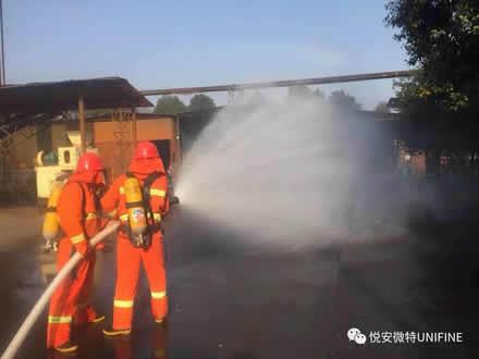 悦安公司微型消防站,为公司财产和员工生命安全保驾护航